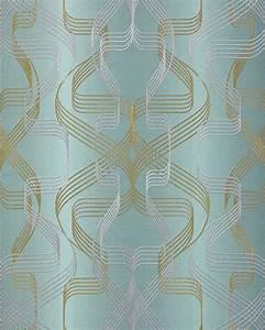 Tapete Petrol Muster : grafik tapete edem 507 25 designer tapete strukturiert mit abstraktem muster und metallischen ~ Eleganceandgraceweddings.com Haus und Dekorationen
