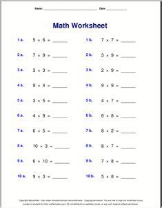 multiplication worksheet  vertical questions