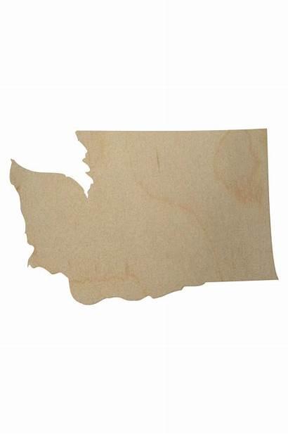 Washington State Wood Shape Cutout Wooden Shapes