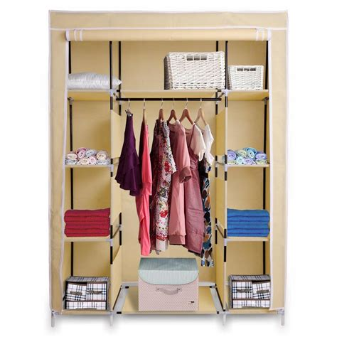 Wardrobe Cabinet For Hanging Clothes by 50 Quot Portable Wardrobe Organizer Clothes Closet Rack