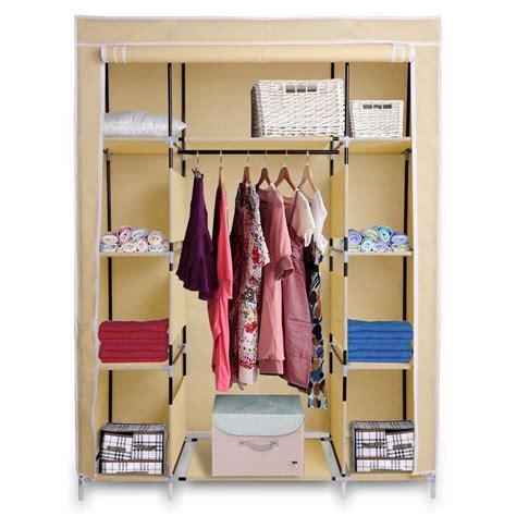 portable wardrobe organizer clothes closet rack