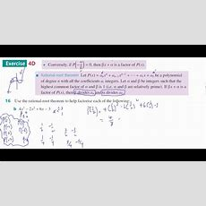 Mm34 4d 16d Rational Root Theorem Youtube