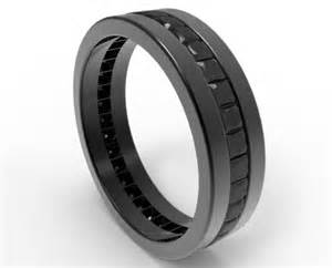 mens wedding bands black diamonds black wedding band for him in black gold vidar jewelry unique custom engagement and