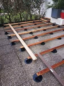 Plot Pour Terrasse Bois : pose terrasse dalle bois sur plot diverses ~ Dailycaller-alerts.com Idées de Décoration