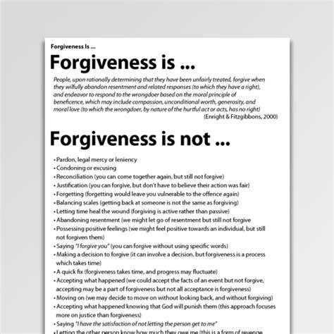 forgiveness worksheets handouts psychology tools