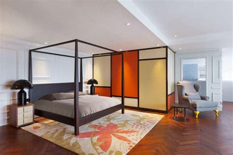 chambre chinoise appartement chinois déco colorée chambre avec lit à
