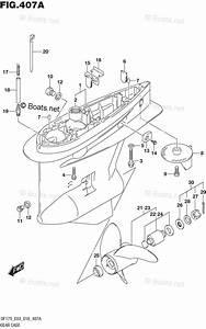 Suzuki Outboard Parts By Model Df 175 Oem Parts Diagram For Gear Case  Df150t Df175t