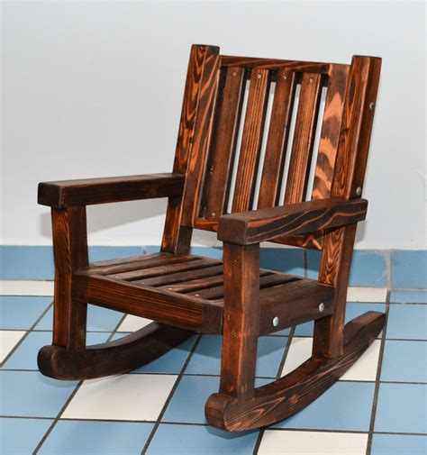 wooden rocking chair sturdy redwood chair