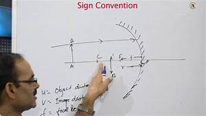 Sign Convention And Ray Diagram For Spherical Mirror