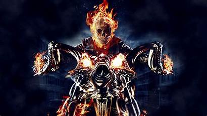 Rider Ghost Skull Fire Motorcycle Graphic Comics