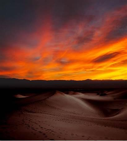 Desert Sunset Dark 4k Burning Wallpapers Nature