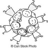 Children Holding Hands Clip Art – in Black And White – 101 ...