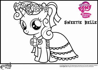 Coloring Belle Sweetie Pony Pages Mlp Princess