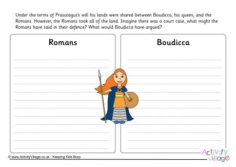 Boudicca V's The Romans Worksheet