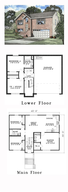 split level house plans ideas  pinterest