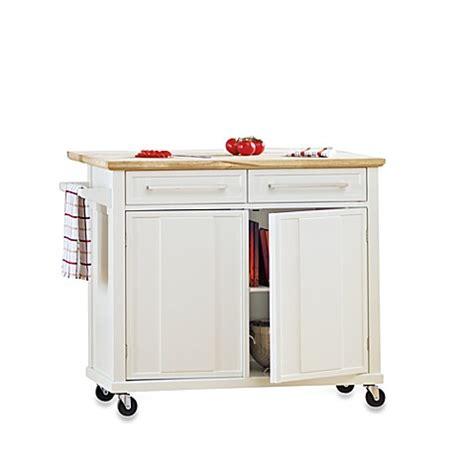 wheeled kitchen island simple rolling kitchen island in white bed bath