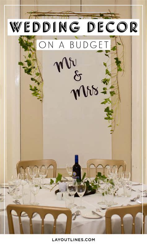 diy wedding decorations on a budget layoutlines com
