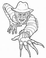 Freddy Krueger Coloring Pages Printable Getcolorings Getdrawings sketch template