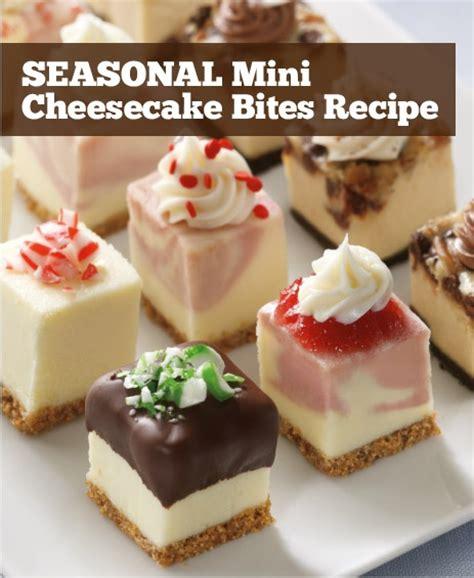 cheesecake bite recipes seasonal mini cheesecake bites recipe christmas ideas pinterest