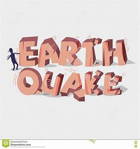Earthquake 3d Typographic Design. Crack Stone. Broken ...