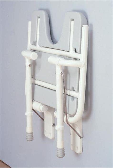 fold up wall mounted shower seat