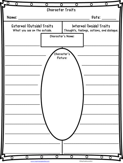 Character Traits Worksheets 3Rd Grade Worksheets for all ...
