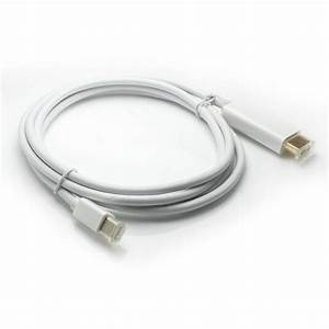 White Male Thunderbolt Mini Display Port To Male Hdmi