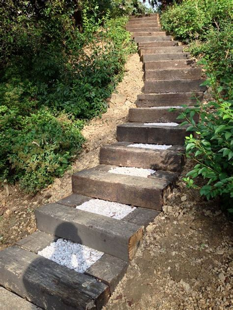 steps for landscaping railroad ties landscaping steps railroad ties in landscaping garden pinterest ties