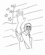 Obama Coloring Barack Usa Pages President States United Presidents Flag Sheets Presidential Printables Go Print American Popular sketch template