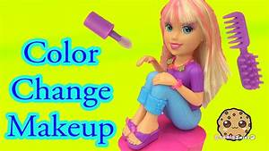 color change hair nails and makeup with polly pocket