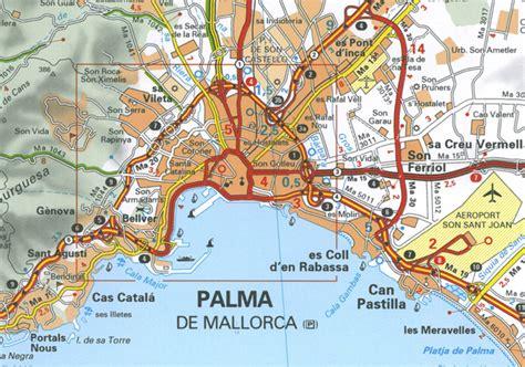 wegenkaart landkaart  baleares balearen michelin