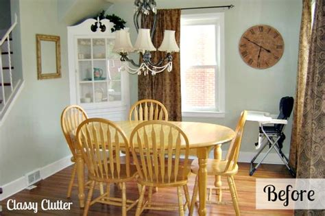 adorable dining room and dining set makeover clutter