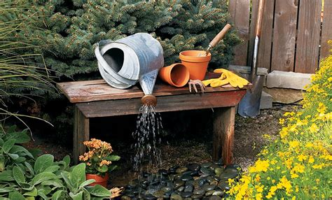 build a water feature diy outdoor water fountain