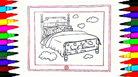 coloring pages rainbow bedroom  ipad  drawing pages