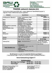 Solarfocus Preisliste 2017 : preisliste baw baustoff aufbereitung wilnsdorf gmbh ~ Frokenaadalensverden.com Haus und Dekorationen