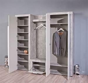 Armoire à Chaussures : armoire chaussure beton hell b ton blanc ~ Teatrodelosmanantiales.com Idées de Décoration
