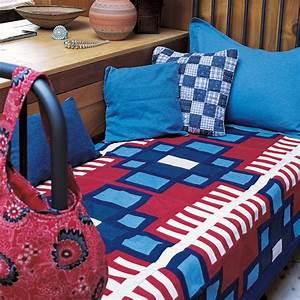 Couvre Lit Patchwork : un couvre lit en patchwork de jean marie claire ~ Teatrodelosmanantiales.com Idées de Décoration