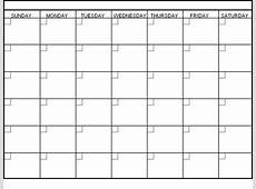 Blank 6 Week Calendar Template Calendar Template 2018