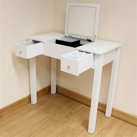 white desk with mirror white dressing room bedroom vanity make up table desk