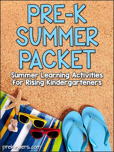 pre  summer packet prekinders