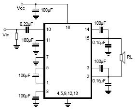Utc Low Power Audio Amplifier Circuit Diagram World