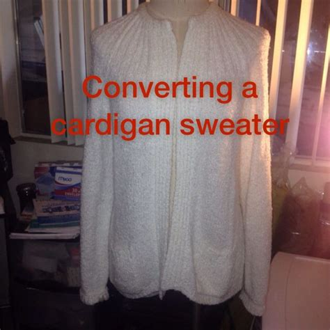 holes in my sweater diy convert a cardigan into an the shoulder sweater