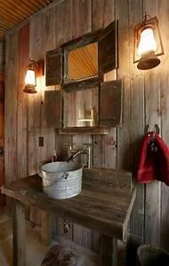 salle de bain design rustique un havre d39harmonie With salle de bain style campagne