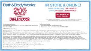 Coupon Codes Bath And Body Works Gallery