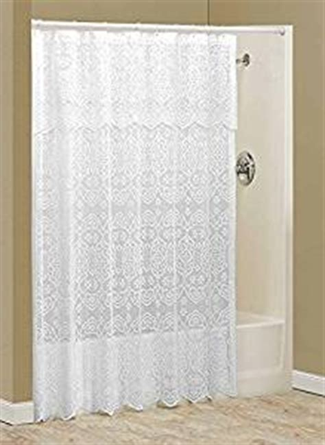 amazon com lace shower curtain with valance by
