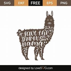 Save the drama llama Lovesvg com