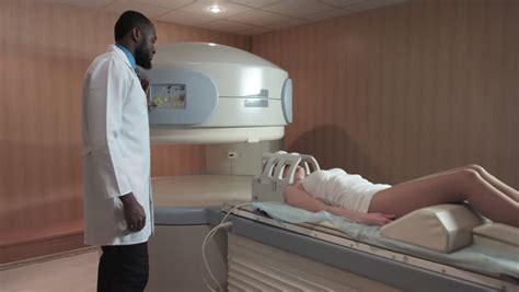 Open Scanning American Doctor Scanning Patient In
