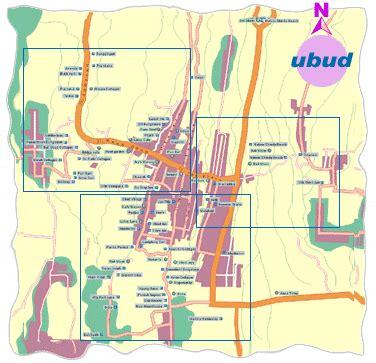 ubud map bali map