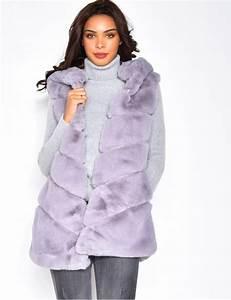 Veste Sans Manche Femme Fourrure : veste capuche sans manche en fausse fourrure jeans industry ~ Melissatoandfro.com Idées de Décoration