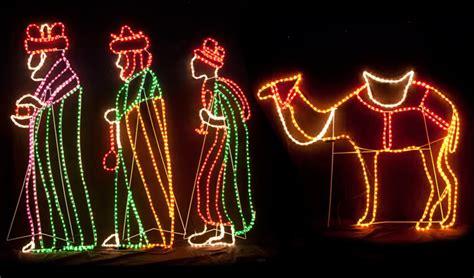 wise mens camel led christmas motif rope light nativity
